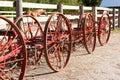 Vintage farm equipement wheels Royalty Free Stock Photo