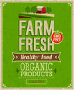 Vintage farm fresh poster vector illustration Stock Images