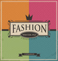 Vintage fashion background on old paper texture Royalty Free Stock Images