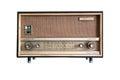 Vintage fashioned radio isolated on white background Royalty Free Stock Photo