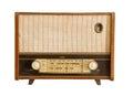 Vintage fashioned radio isolated on white background Royalty Free Stock Photos
