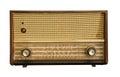Vintage fashioned radio isolated on white background Royalty Free Stock Image