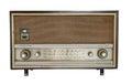 Vintage fashioned radio isolated on white background Royalty Free Stock Photography