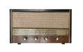 Vintage fashioned radio isolated on white background Stock Photo