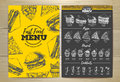 Vintage fast food menu design.
