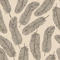 Vintage feather seamless background many similarities to the authors profile Royalty Free Stock Photography