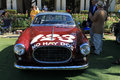 Vintage ferrari race car front view frontal italian racing at classic event inter berlinetta by vignale Stock Photos