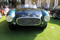Vintage ferrari spyder front export view of hood grille and headlamps at cavallino Stock Photo