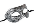 Vintage festive silver dress mask with swirls pattern Royalty Free Stock Photo