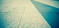 Vintage filter of perspective concrete block flooring Royalty Free Stock Photo