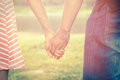 Vintage filtered of couple relationship color Stock Photos