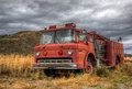 Vintage fire truck Royalty Free Stock Photo