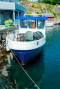 Vintage fishing boat in harbor Royalty Free Stock Photo