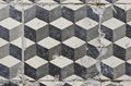 Vintage floor tiles grungy geometric Stock Photography