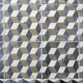 Vintage floor tiles grungy geometric xl size Stock Photos