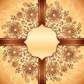 Vintage floral background with doodle flowers Royalty Free Stock Images