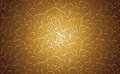 Vintage floral background in gold Royalty Free Stock Photo