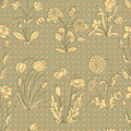 Vintage floral background seamless pattern with flowers in retro style Royalty Free Stock Images