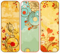 Vintage floral banners Royalty Free Stock Photo