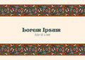 Vintage Floral border tiling elements. Stock Images