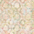 Vintage floral botanical spring background in soft pastel colors