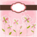 Vintage floral card with frame Royalty Free Stock Image