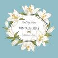 Vintage Floral Card With A Fra...