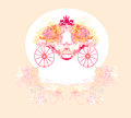 Vintage floral carriage Royalty Free Stock Photo