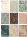 Vintage Floral Damask Collage Sheet Stock Image