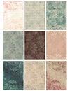 Vintage Floral Damask Collage Sheet Royalty Free Stock Photo