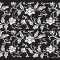Vintage floral damask scrapbook background Royalty Free Stock Photo