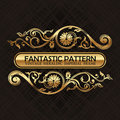 Vintage floral decor ornament pattern Royalty Free Stock Photo