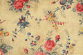 Vintage floral fabric detail of a Stock Photo