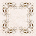 Vintage floral frame Royalty Free Stock Photo