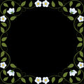 Vintage floral frame decorative pattern vector illustration Stock Photo