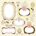 Vintage floral frames Royalty Free Stock Photography