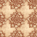 Vintage floral pattern with doodle flowers Royalty Free Stock Photos