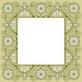Vintage floral rich decorated square frame Stock Photography