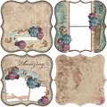 Vintage Floral Scrapbook Background Stock Photo