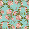 Vintage floral seamless color pattern Royalty Free Stock Photo