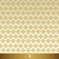 Vintage Floral seamless ornate patterns. Gold with beige Royalty Free Stock Photo