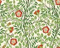 Vintage floral seamless pattern background with red roses and foliage on light background. Vector illustration. Royalty Free Stock Photo