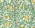 Vintage floral seamless pattern background with yellow roses and foliage on light background. Vector illustration. Royalty Free Stock Photo