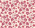 Vintage floral seamless pattern with classic hand drawn roses Stock Photo