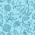 Vintage floral seamless pattern vector ilustration Stock Images