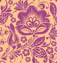 Vintage floral seamless pattern vector texture with flowers endless Stock Photo