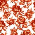 Vintage Floral Seamless Red-br...