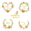Vintage Floral Tags, Labels and Banners - for T-shirt, Fashion Royalty Free Stock Photo