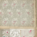 Vintage floral wallaper background of wallpaper with different patterns Royalty Free Stock Images
