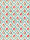 Vintage floral wallpaper rose repeat pattern Royalty Free Stock Photo
